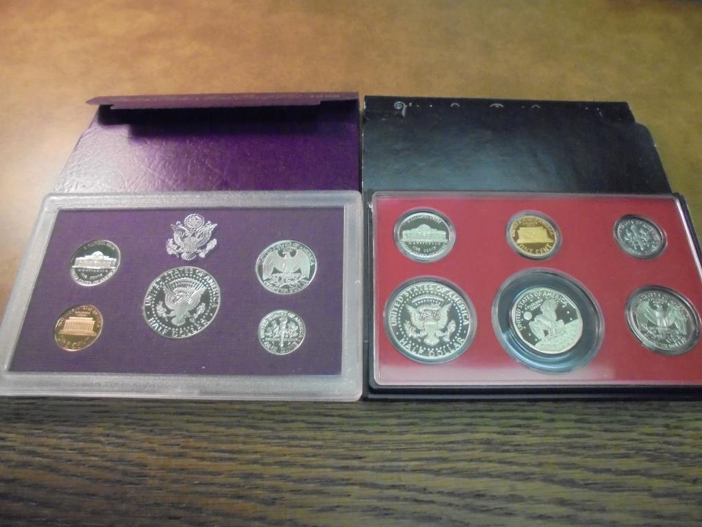 1979 & 1993 US PROOF SETS (WITH BOXES) - 2