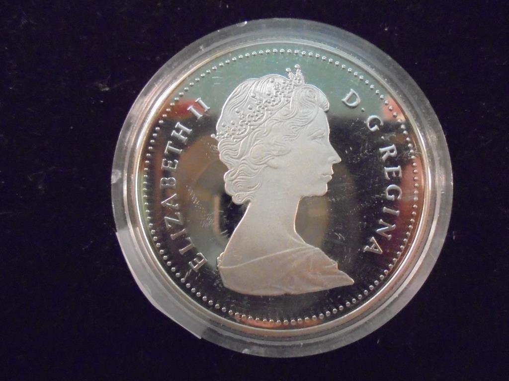 1986 CANADA VANCOUVER SILVER DOLLAR PROOF - 2