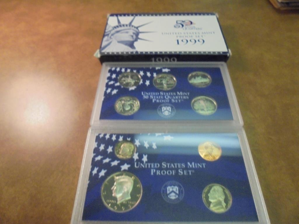 1999 US PROOF SET (WITH BOX)