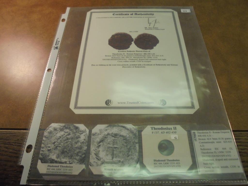 402-450 A.D. THEODOSIUS II ANCIENT COIN