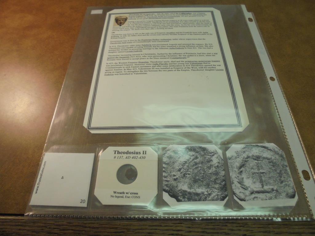 402-450 A.D. THEODOSIUS II ANCIENT COIN - 2