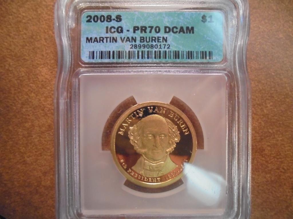 2008-S VAN BUREN DOLLAR ICG PR70 DCAM