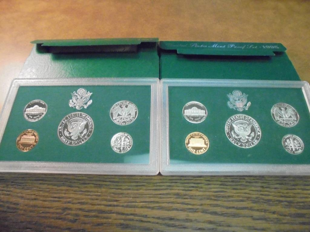 1995 & 1997 US PROOF SETS (WITH BOXES) - 2