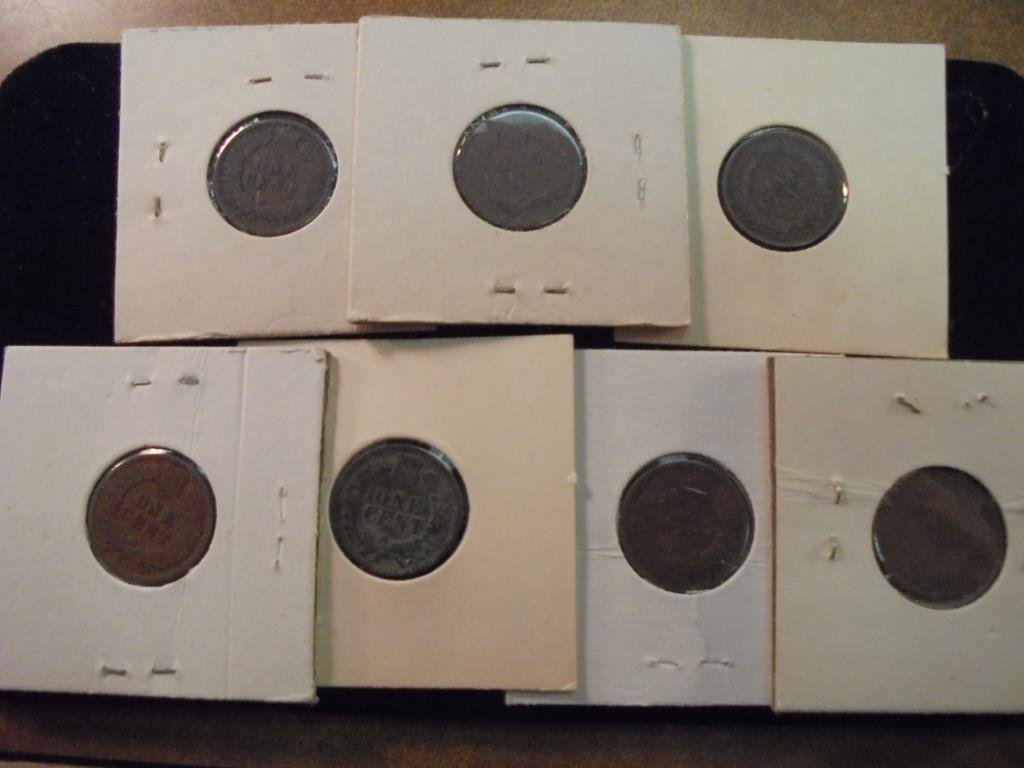 1891,99,1900,01,02,05 & 06 INDIAN HEAD CENTS - 2