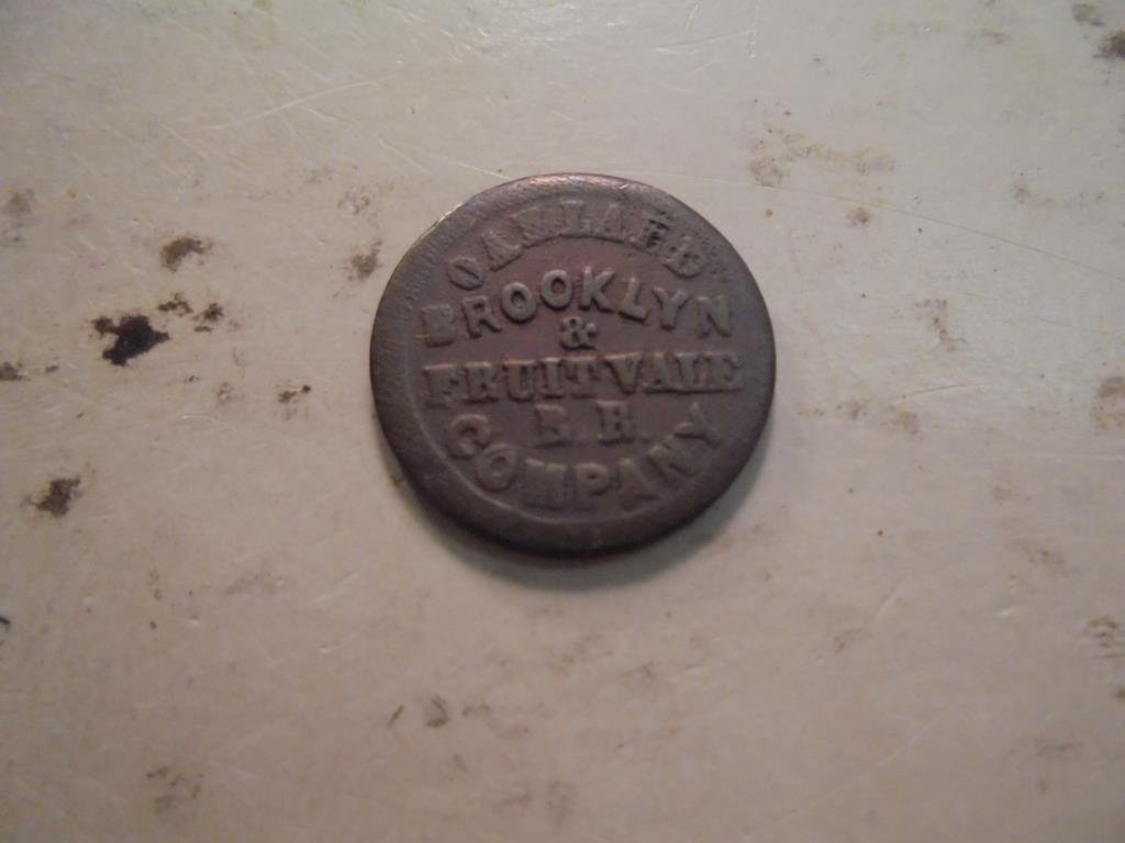 1871 CIVIL WAR TOKEN BROOKLYN & FRUIT VALE