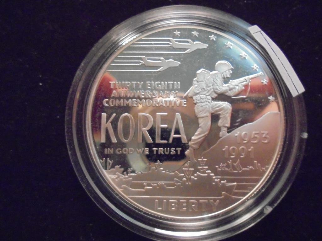 1991-P KOREAN WAR PROOF SILVER DOLLAR