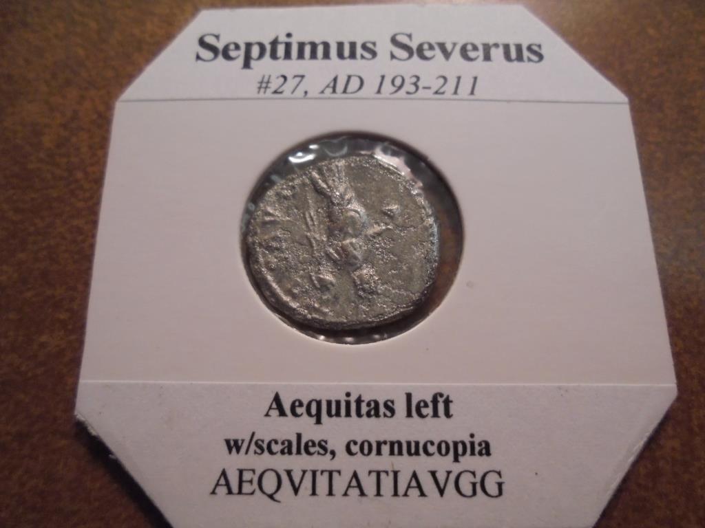 SILVER 193-211 A.D. SEPTIMUS SEVERUS ANCIENT COIN - 2