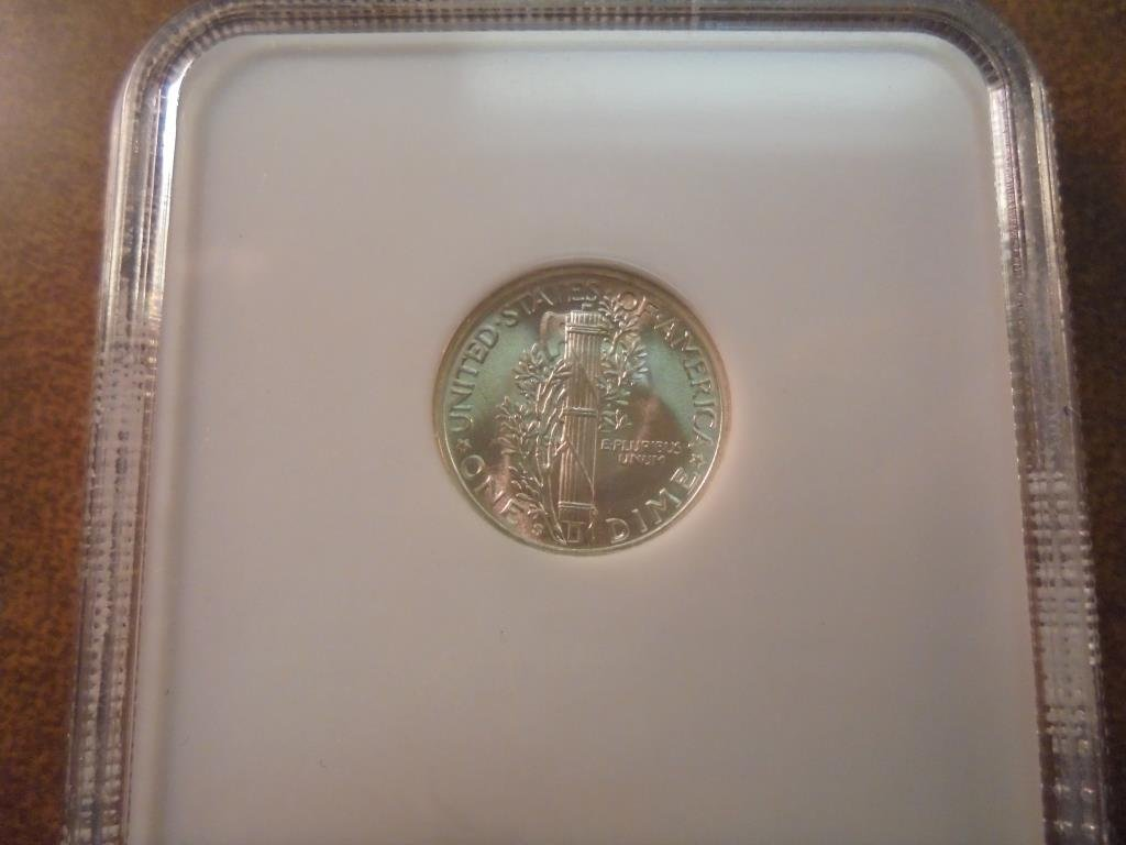 1945-S MERCURY DIME NGC MS64FB - 2