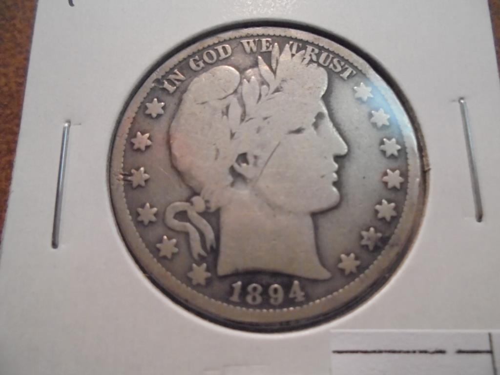 1894 BARBER HALF DOLLAR VERY GOOD