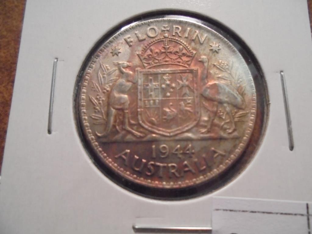 1944 AUSTRALIA SILVER FLORIN
