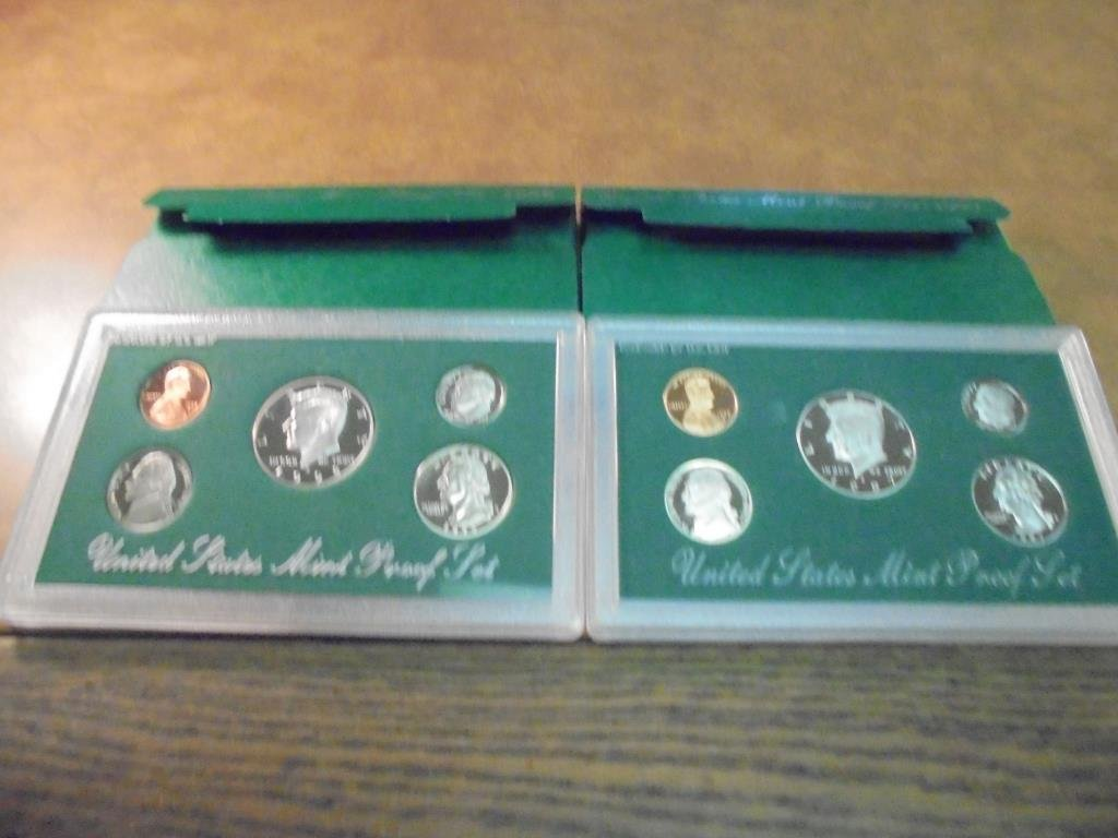 1997 & 1998 US PROOF SETS (WITH BOXES)