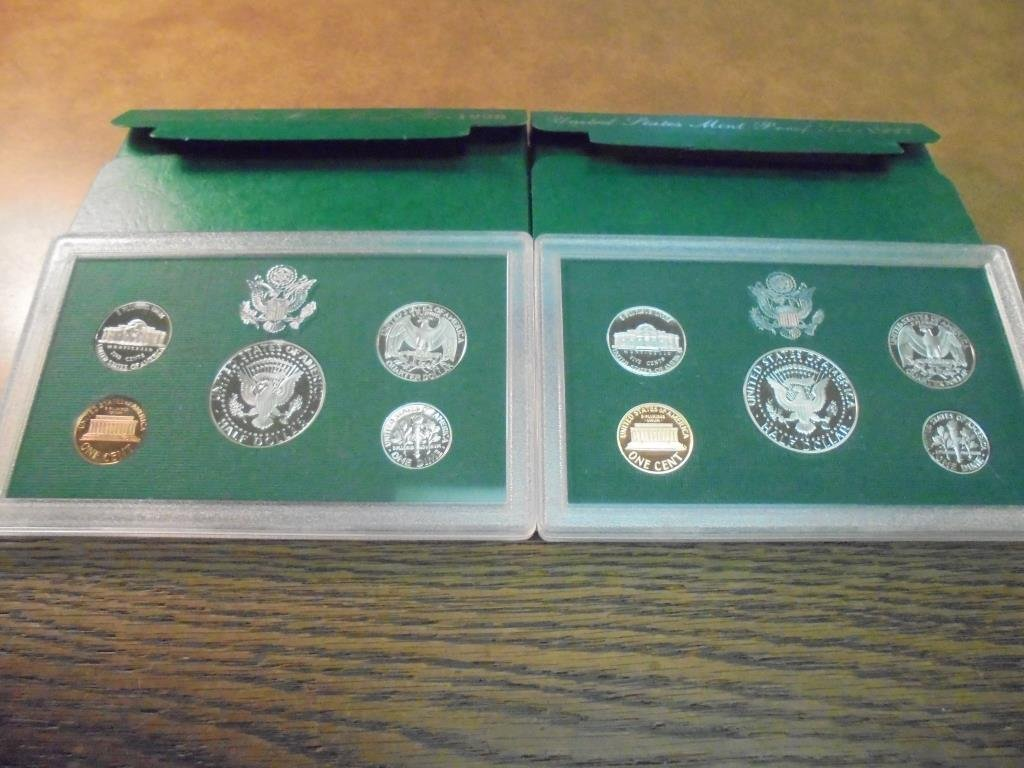 1997 & 1998 US PROOF SETS (WITH BOXES) - 2