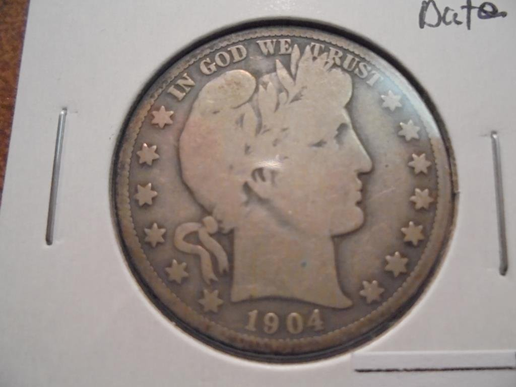 1904-S BARBER HALF DOLLAR BETTER DATE VERY GOOD