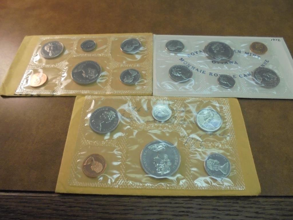 1968,69 & 72 CANADA (PF LIKE) SETS WITH ENVELOPES - 2