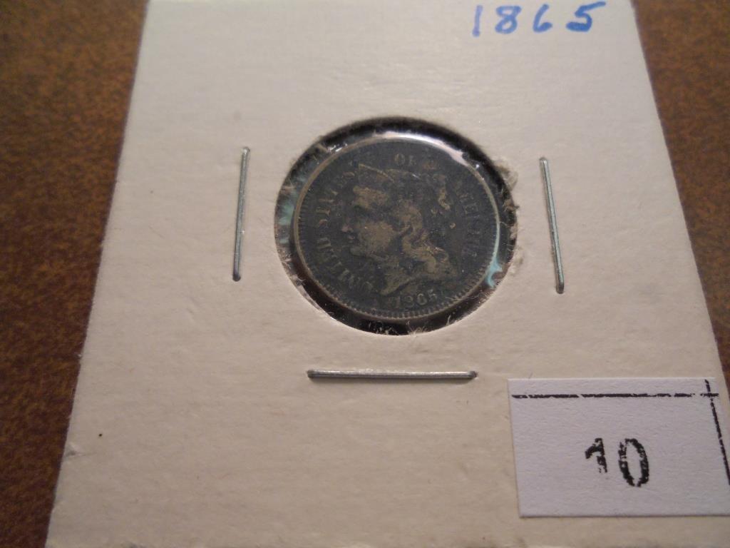 1865 THREE CENT PIECE (NICKEL)