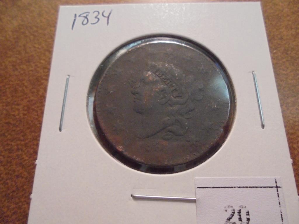 1834 US LARGE CENT