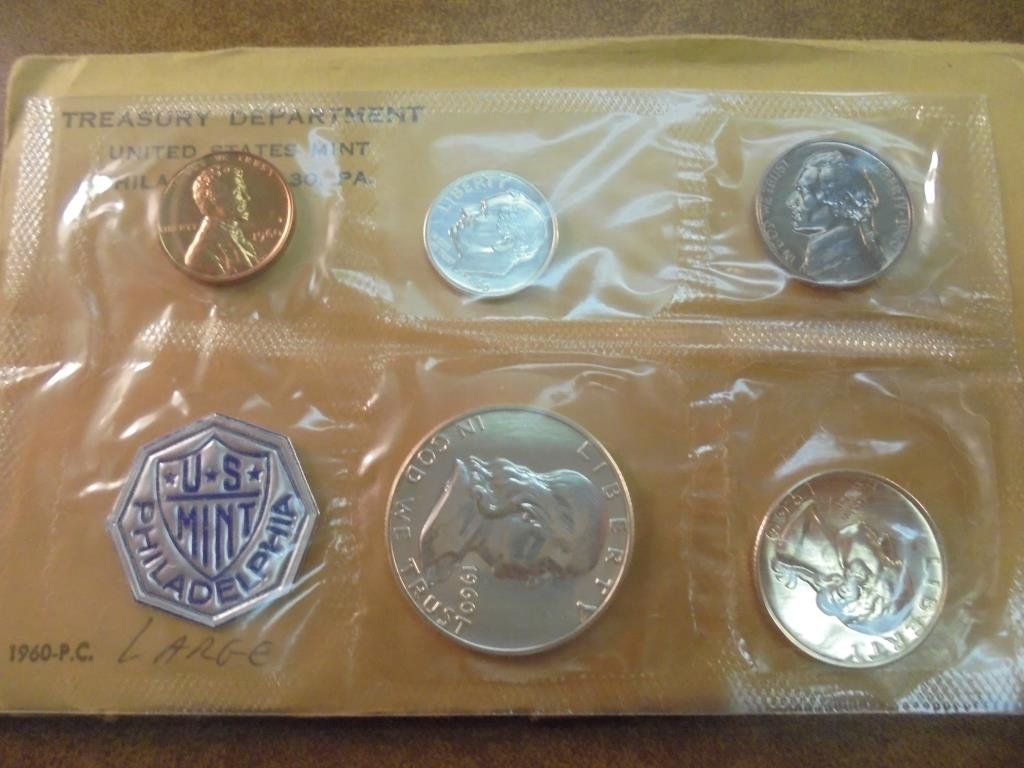 1960 (LARGE DATE) US SILVER PROOF SET