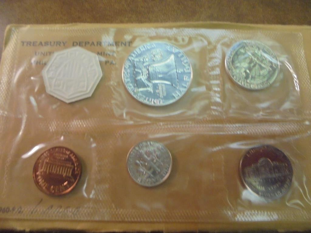 1960 (LARGE DATE) US SILVER PROOF SET - 2