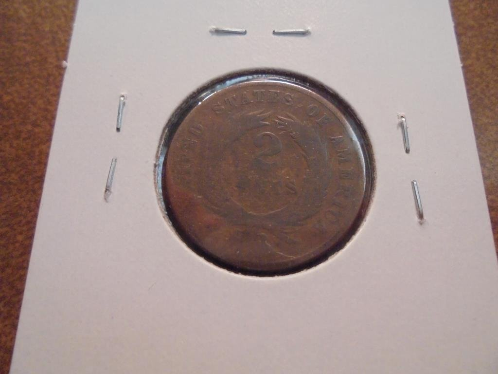 1869 US TWO CENT PIECE - 2
