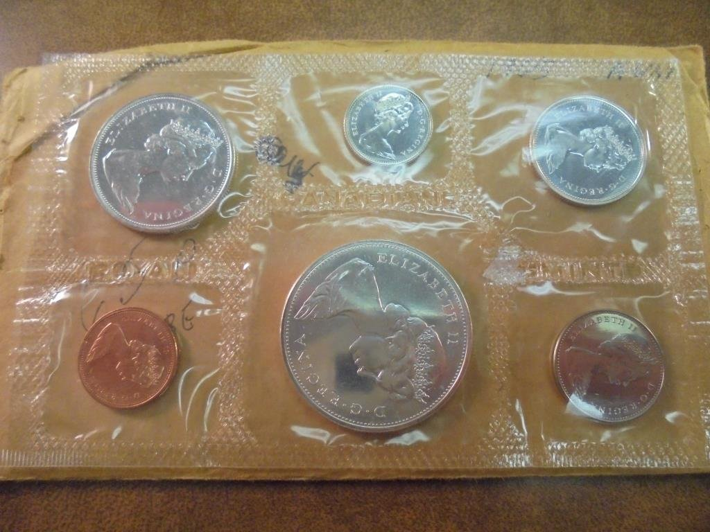1965 CANADA SILVER (PF LIKE) SET WITH ENVELOPE - 2