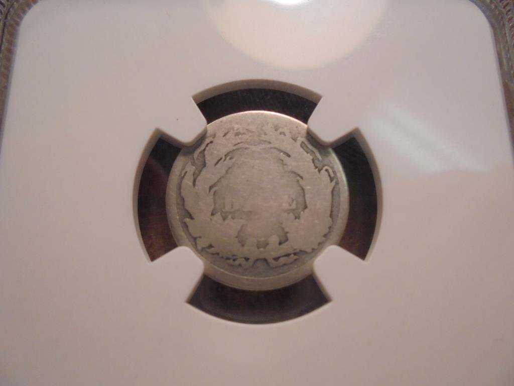 1866-S WEAK S SEATED LIBERTY DIME NGC AG3 - 2