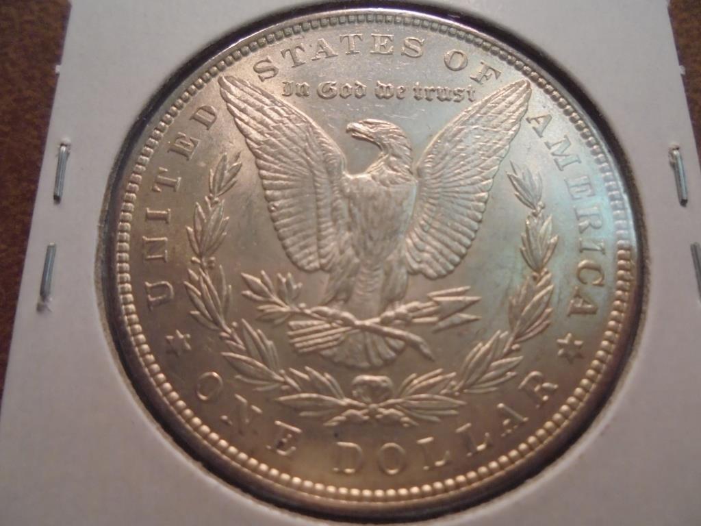 1896 MORGAN SILVER DOLLAR UNC - 2