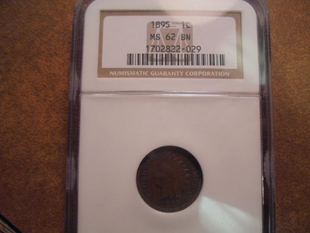 1895 INDIAN HEAD CENT NGC MS62BN