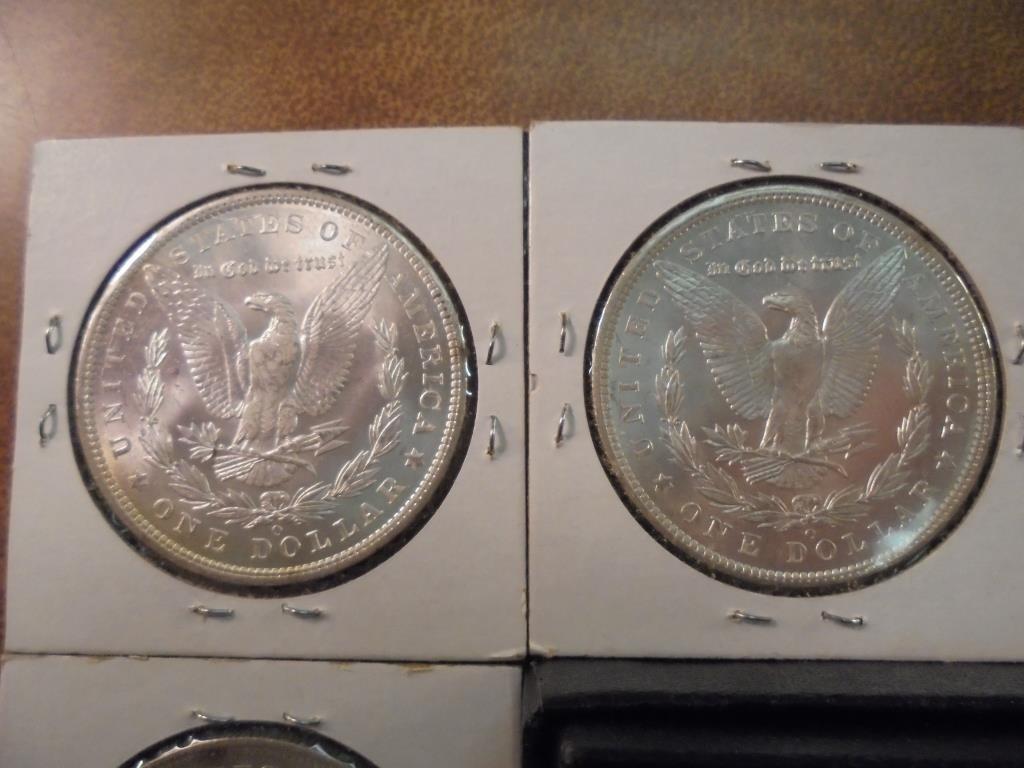 1902-O & 3-1904-O MORGAN SILVER DOLLARS UNC'S - 6