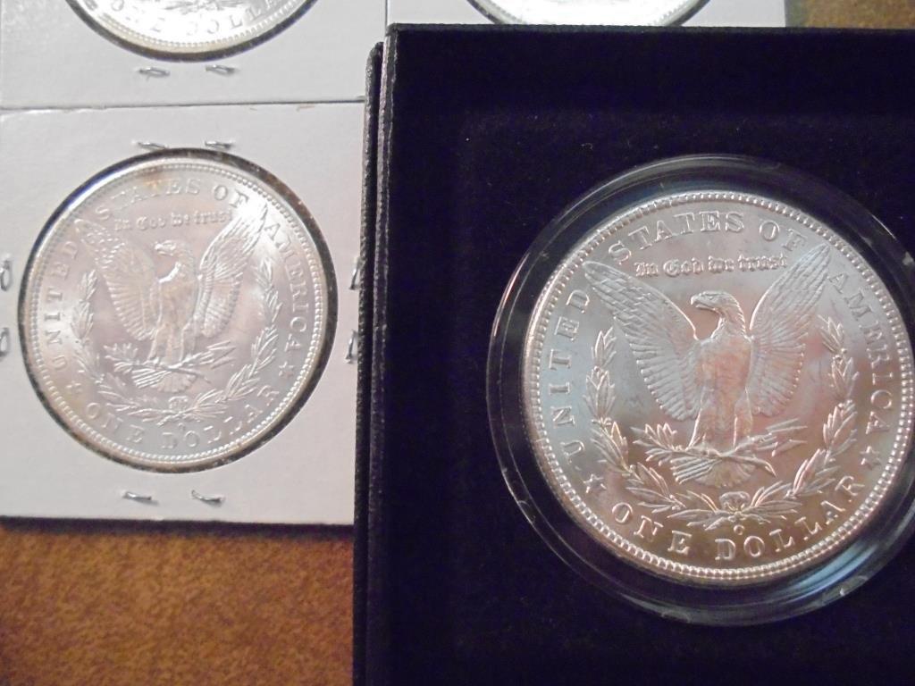 1902-O & 3-1904-O MORGAN SILVER DOLLARS UNC'S - 7