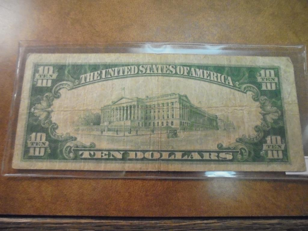 1929 $10 NATIONAL CURRENCY CHICAGO ILLINOIS - 2
