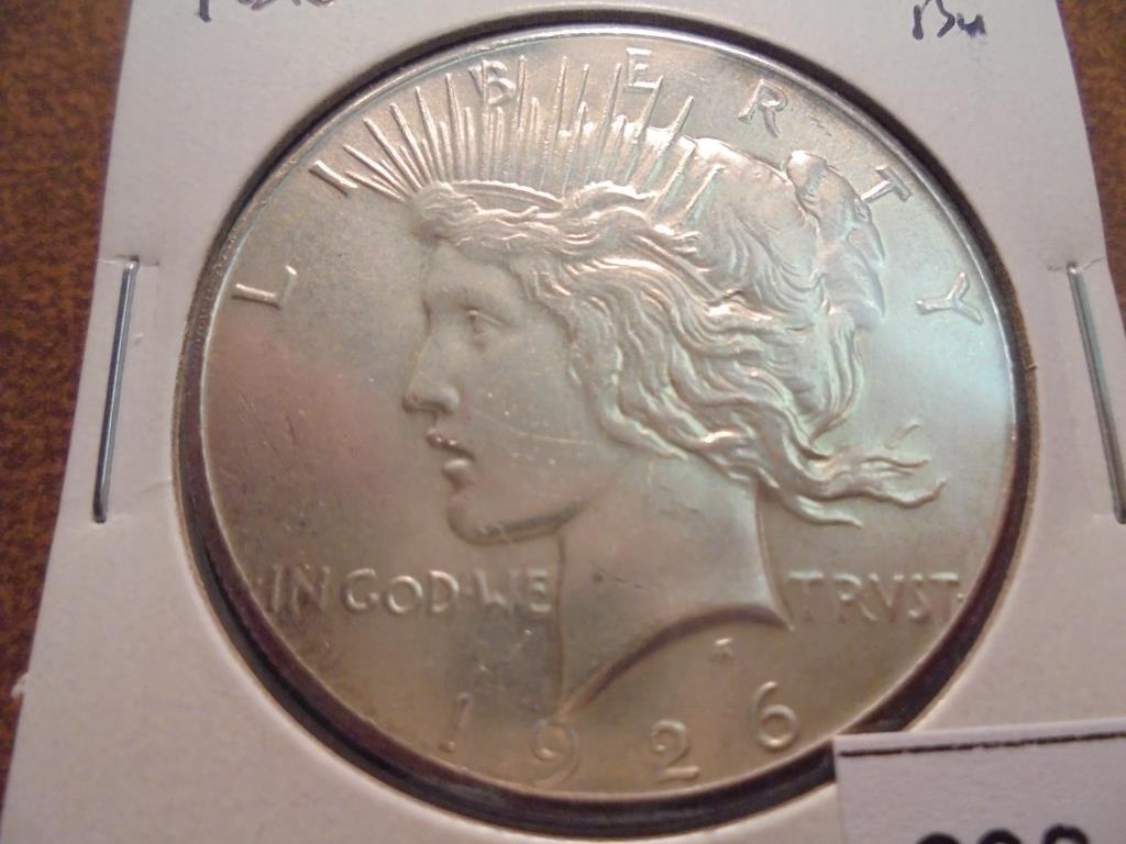 1926 PEACE SILVER DOLLAR GEM BU