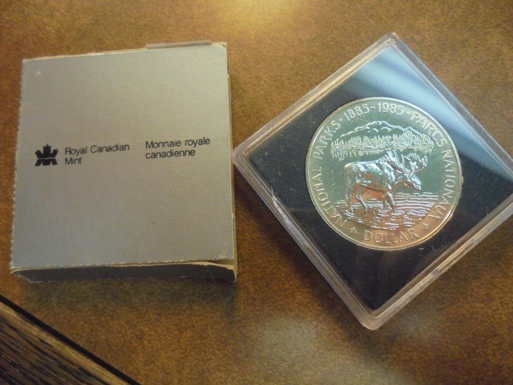 1985 CANADA NATIONAL PARKS SILVER DOLLAR PROOF