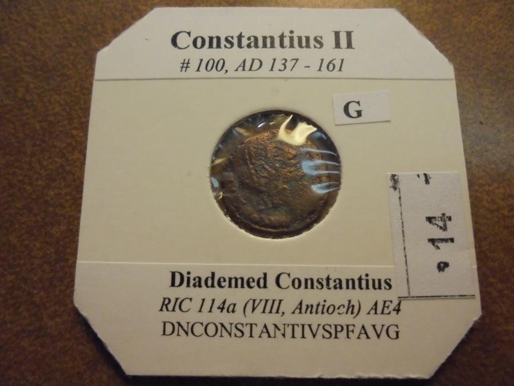 137-161 A.D. CONSTANTIUS II ANCIENT COIN