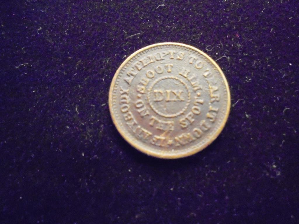 1863 CIVIL WAR TOKEN OBV. THE FLAG OF OUR UNION - 2