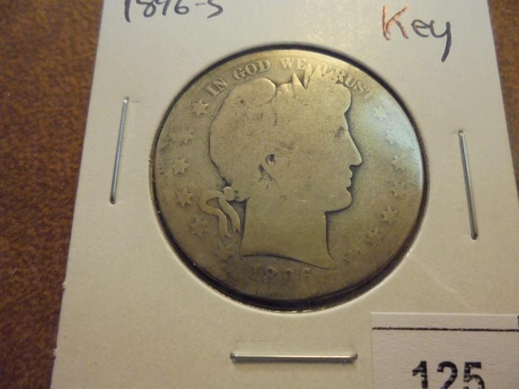 1896-S BARBER HALF DOLLAR KEY DATE