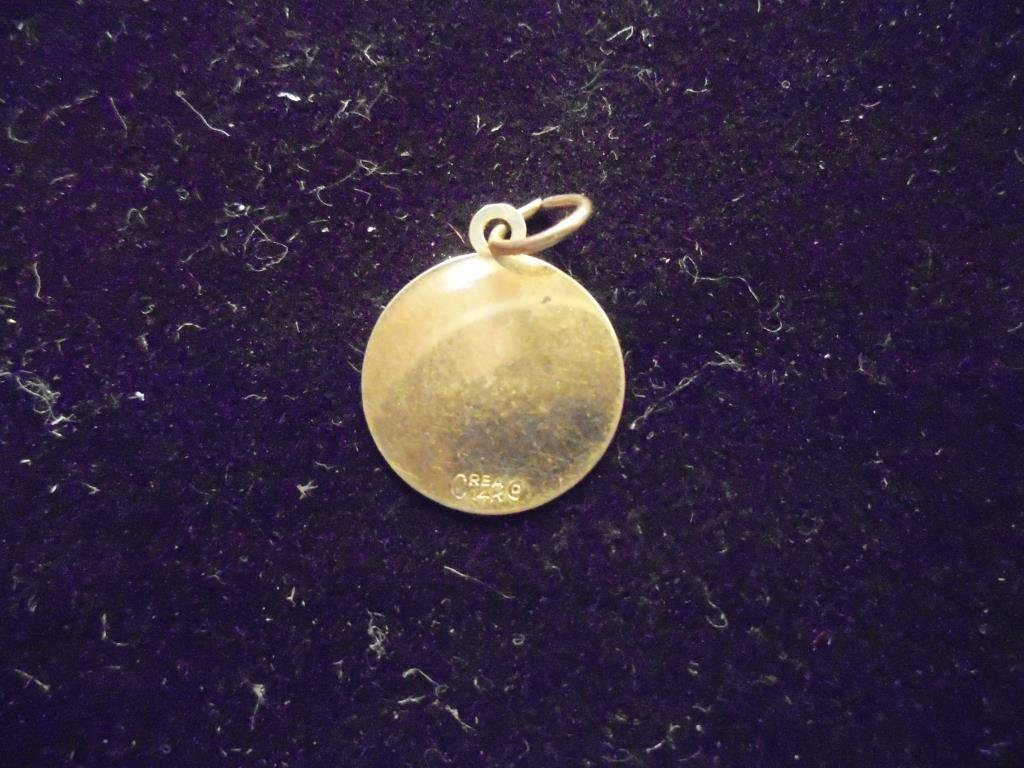 14KT GOLD LAKE TAHOE CHARM APPROX. .7 GRAMS GOLD - 2