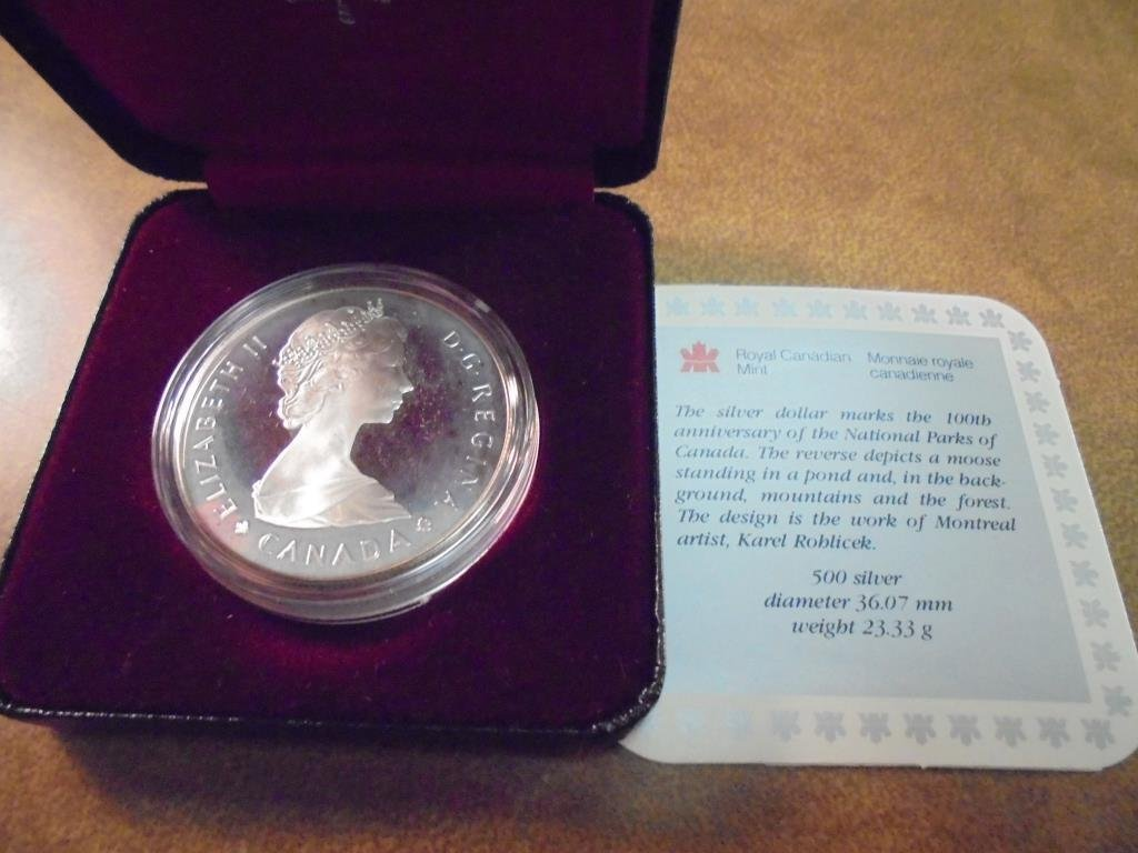 1985 CANADA N.P. PROOF SILVER DOLLAR .3750 OZ. ASW - 2