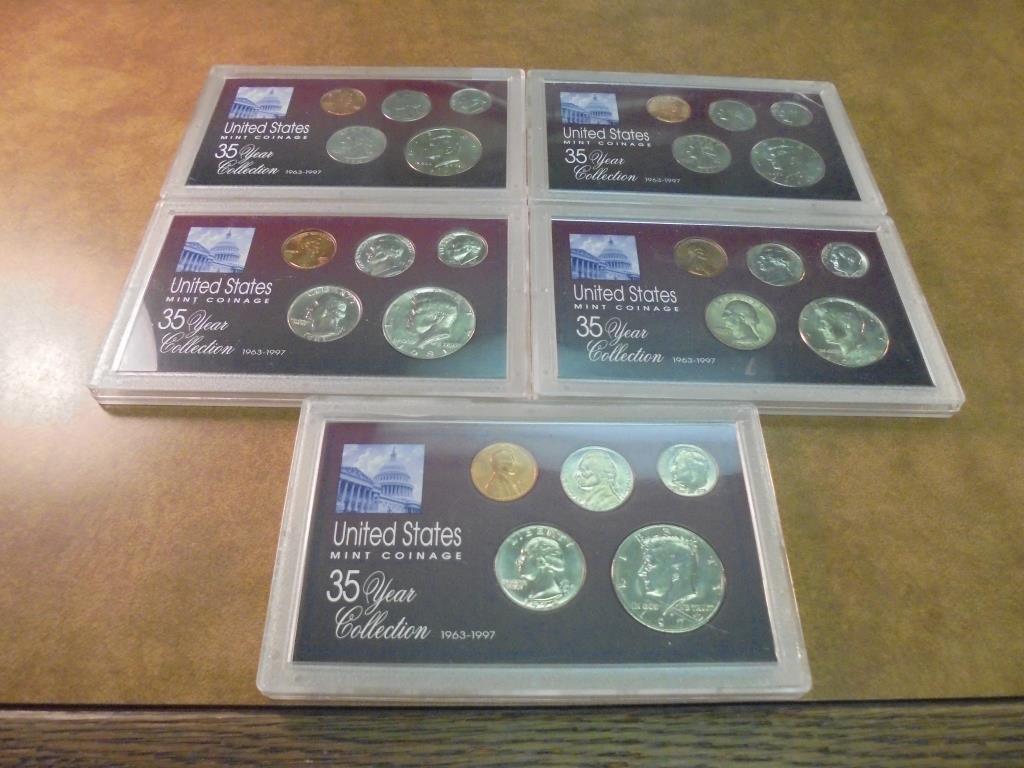 1972,79,81,95 & 96 UNC US YEAR SETS