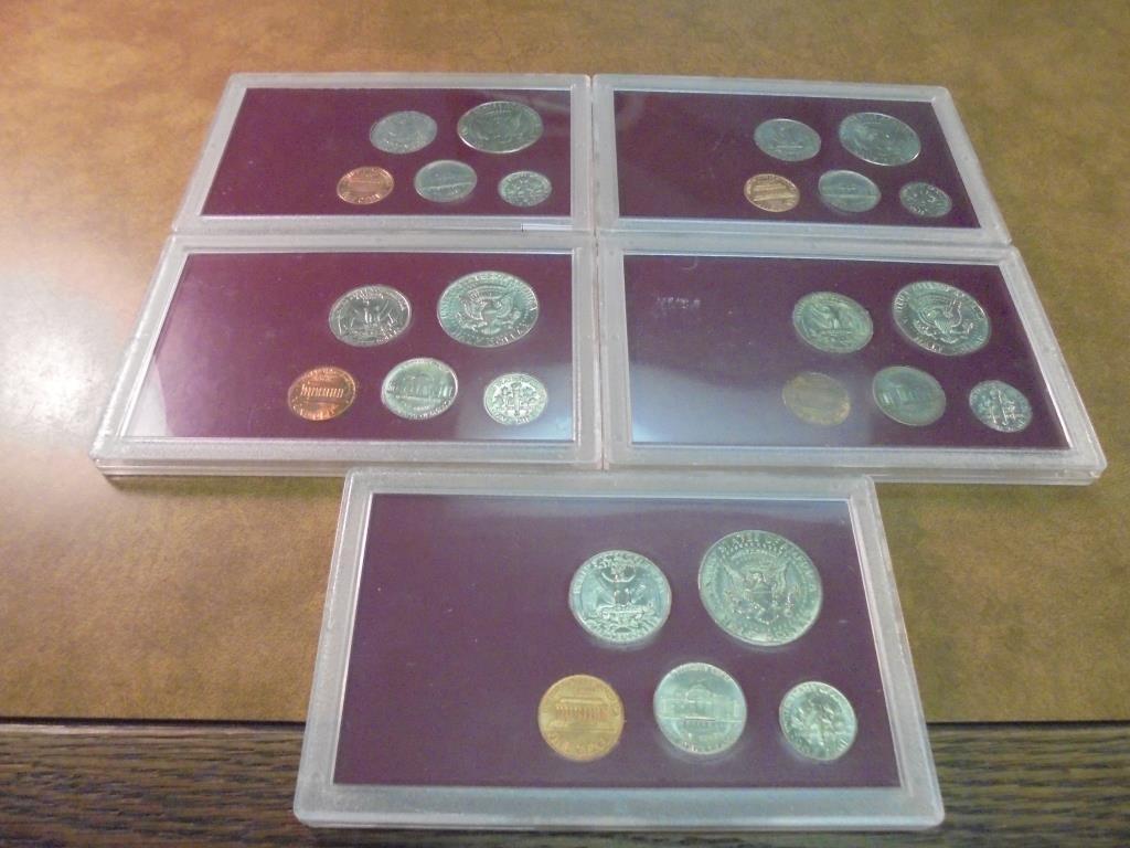 1972,79,81,95 & 96 UNC US YEAR SETS - 2