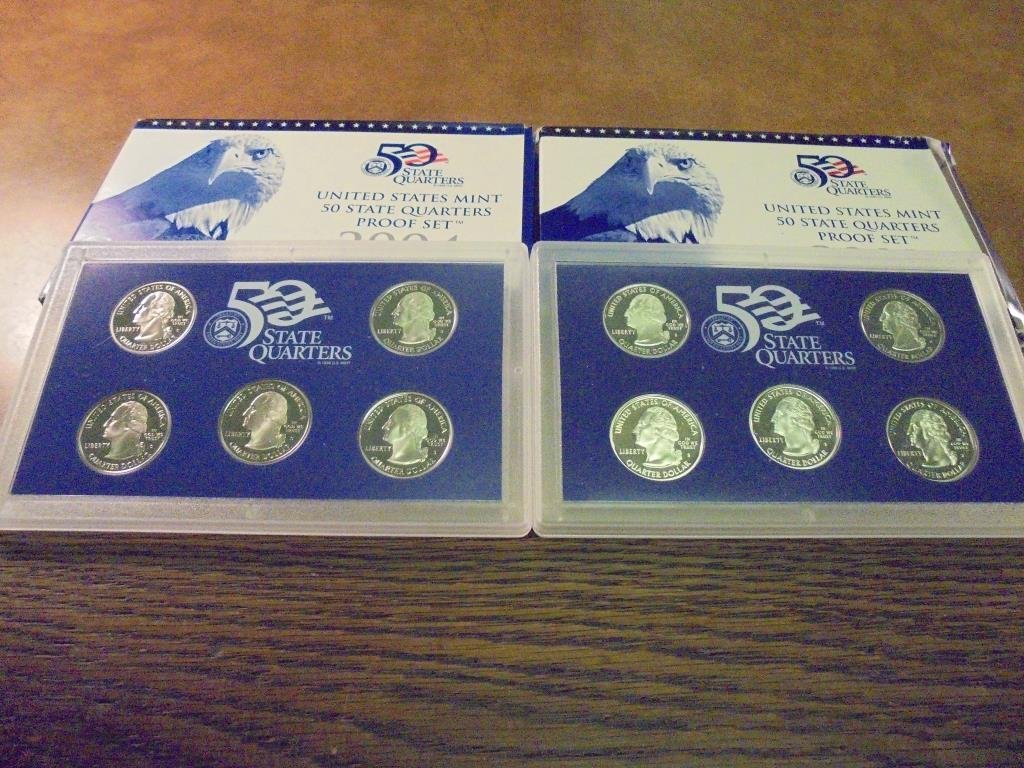 2002 & 2004 US 50 STATE QUARTERS PROOF SETS - 2