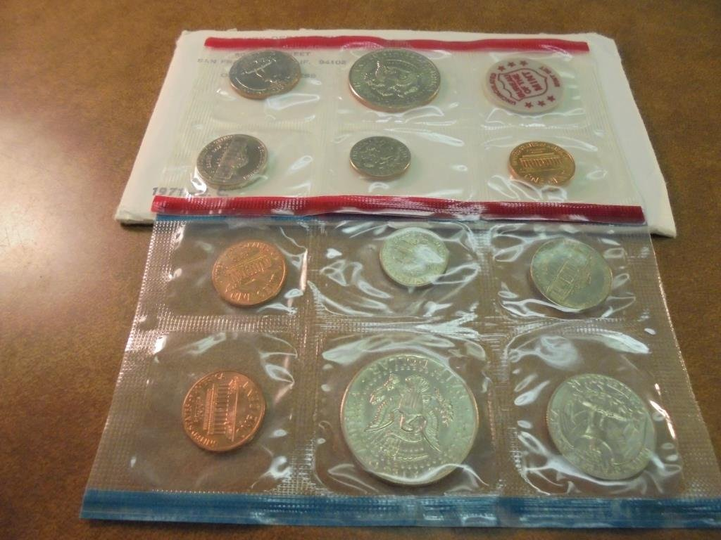 1971 US MINT SET (UNC) P/D/S (WITH ENVELOPE) - 2
