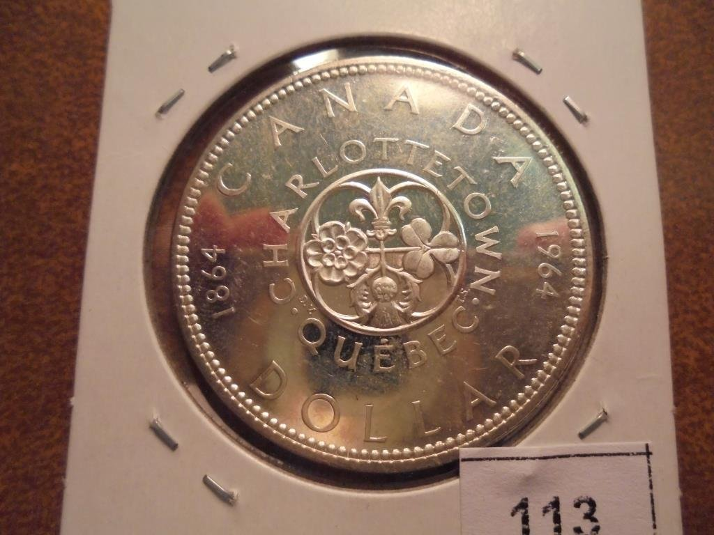 1964 CANADA SILVER DOLLAR UNC