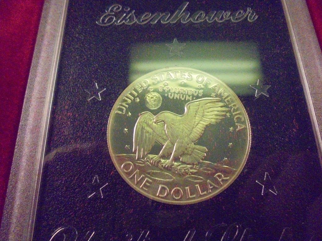 1974-S IKE SILVER DOLLAR PROOF (BROWN PACK) - 2