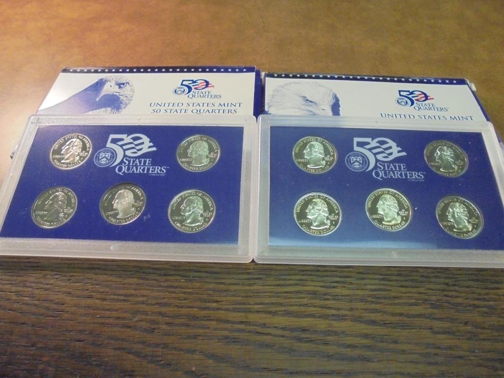 2000 & 2002 US 50 STATE QUARTERS PROOF SETS - 2