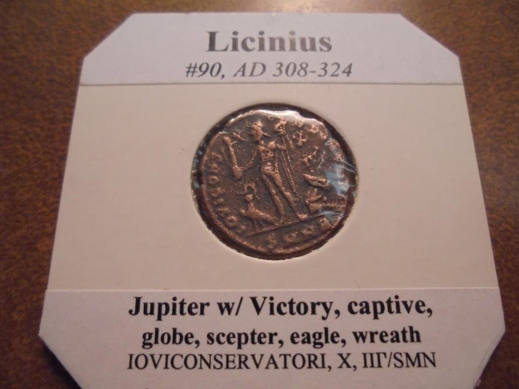 308-324 A.D. LICINIUS ANCIENT COIN VERY FINE - 2