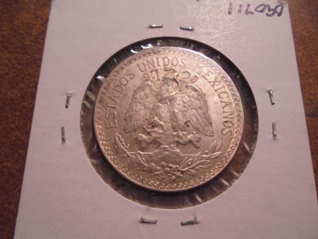 1945 MEXICO CAP & RAYS SILVER 50 CENTAVOS - 2