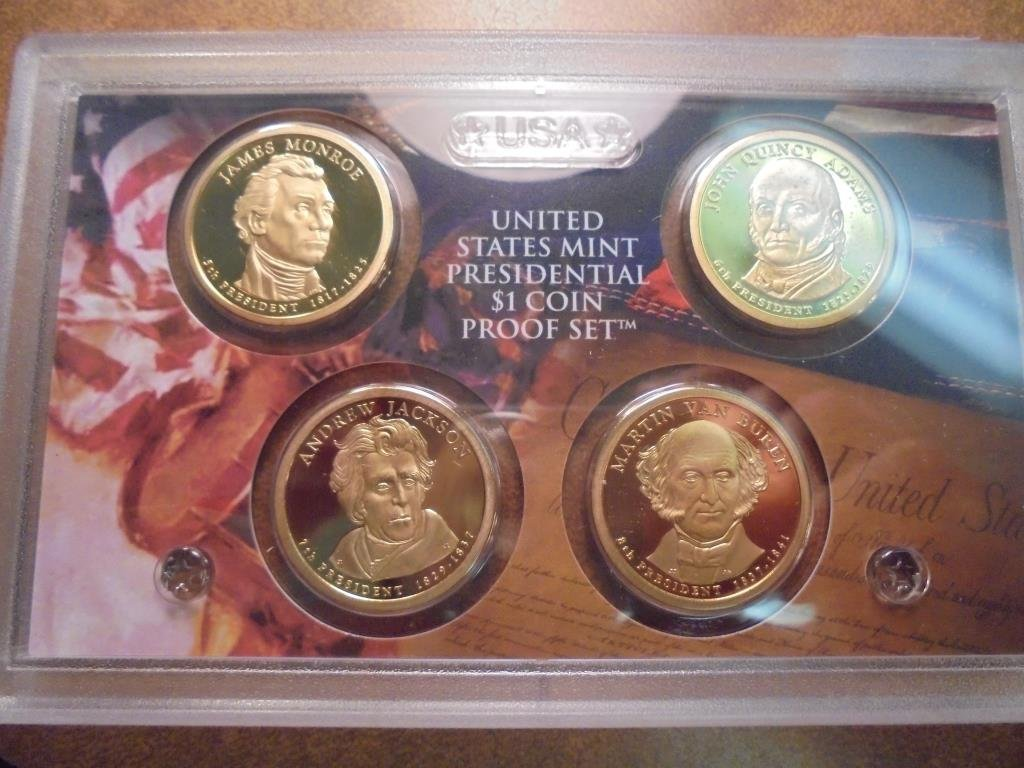 2008-S US PRESIDENTIAL DOLLAR PROOF SET NO BOX