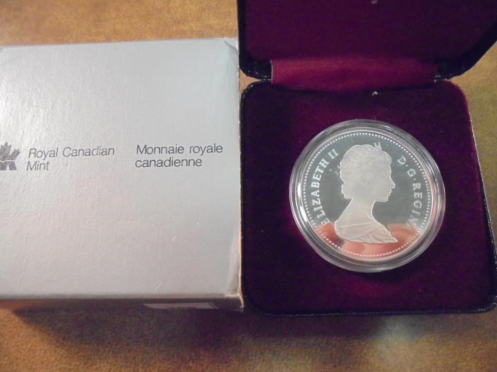 1982 CANADA REGINA SILVER DOLLAR PROOF - 2