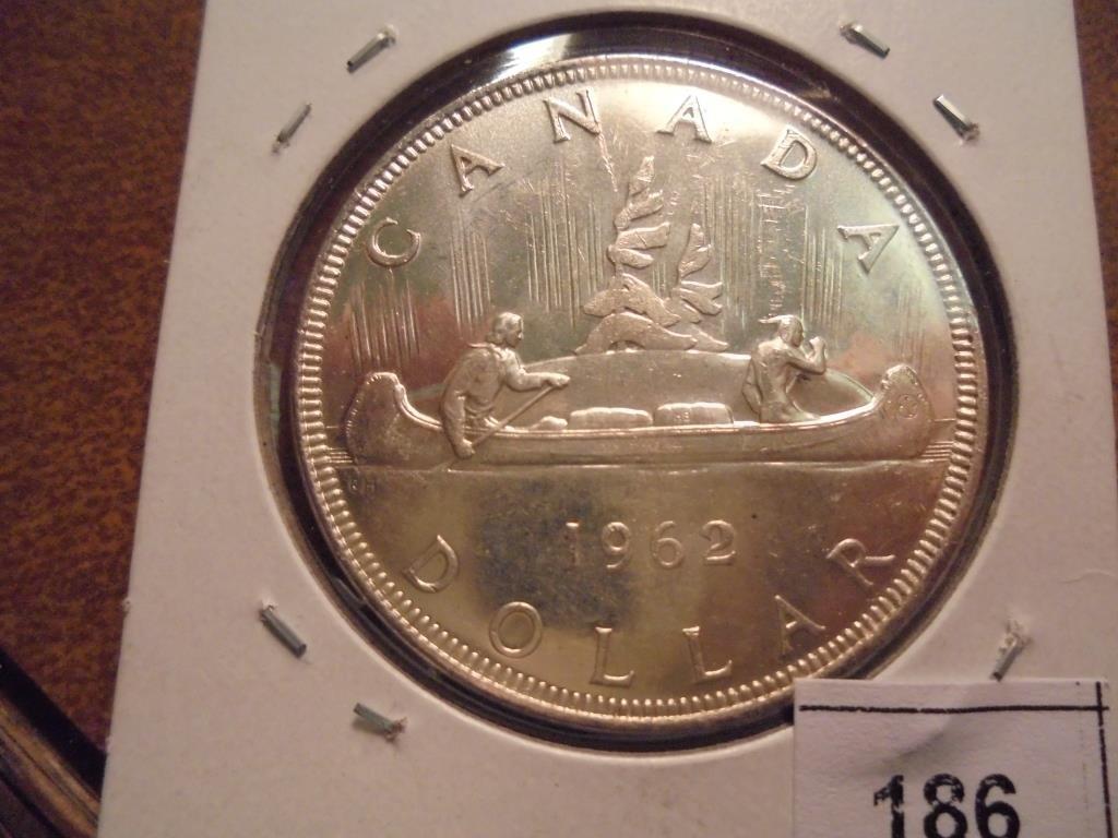 1962 CANADA SILVER DOLLAR UNC