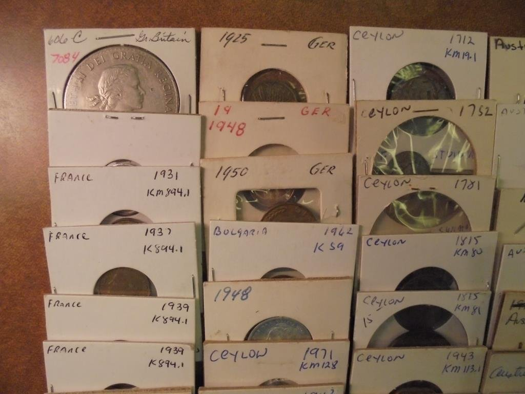 50 ASSORTED FOREIGN COINS ALL FLIPPED AND MOSTLY - 2